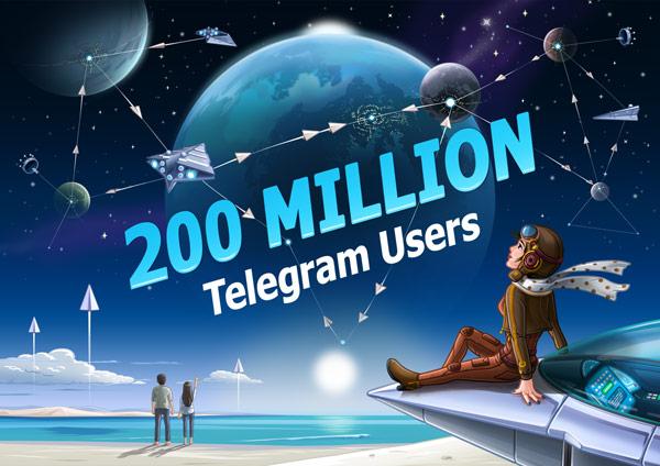 Телеграм набрал 200,000,000 активных пользователей