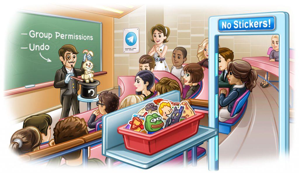 Настройки групп, отмена удаления чатов и другое в новой версии Telegram