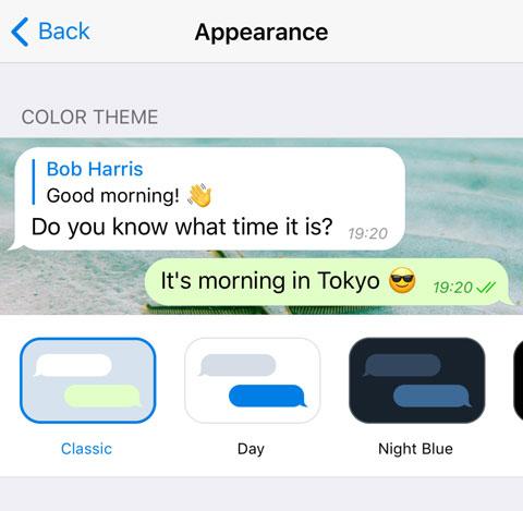 Новый подборщик тем на iOS
