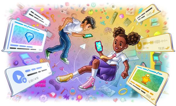 Цветовые темы для чатов, интерактивные эмодзи, список прочитавших сообщение в группе и запись видеотрансляций