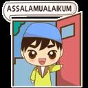 Funny Moslem Boy (LINE Sticker)