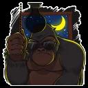 Mr. Gorilla :: @stickerhype