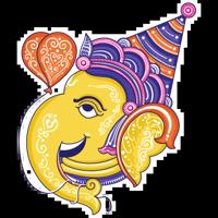 Funky Pattachitra Ganesha