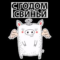 Новый Год Свинки @stickerus