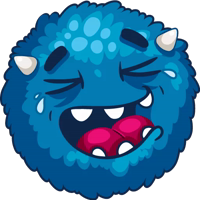 Shaggy blue stickerpack