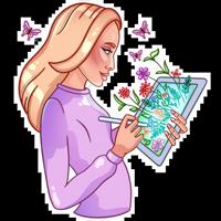 Девушка иллюстратор